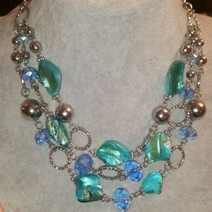 Jewelry - Silver, Turquoise Mother of Pearl, Blue Glass Crys